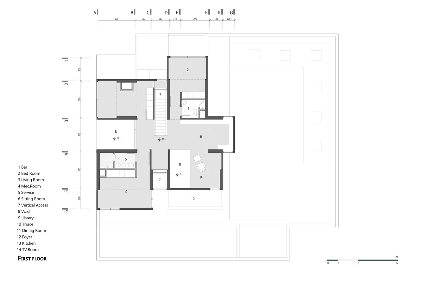 Villa 131,First Floor Plan