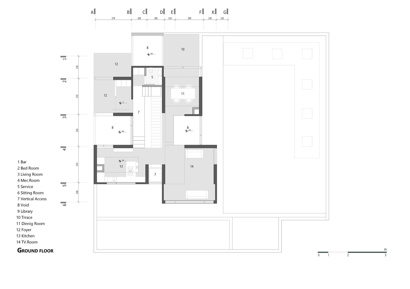 Villa 131,Ground Floor Plan