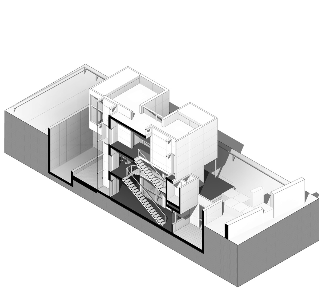 Villa 131,Axonometric