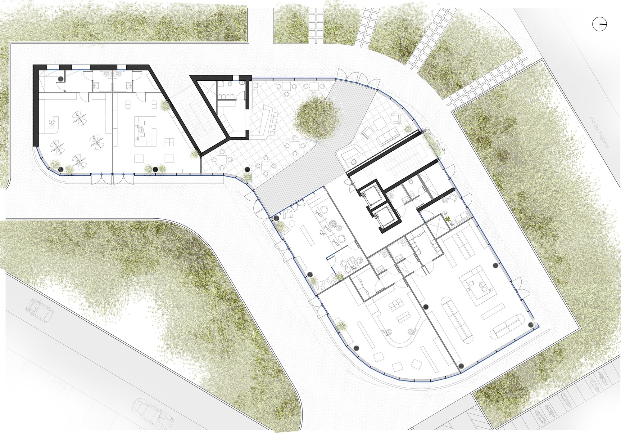 Gallery of forti holding spa hq and office building for Salon layout plans