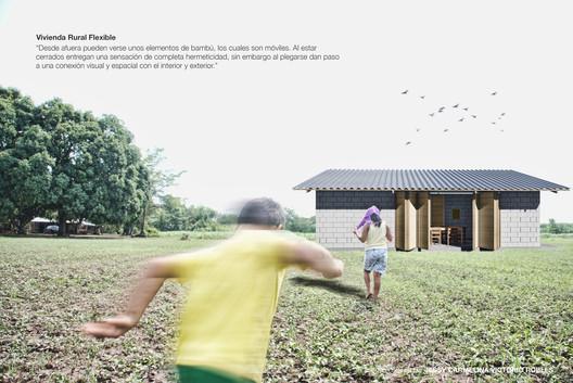 """Vivienda rural flexible para la localidad """"El Aguacate"""" en Villa Mazatán, Chiapas. Image Cortesía de Ricardo Castro Robles"""