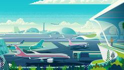 Ilustraciones de Heathrow preveen el futuro de los aeropuertos sostenibles