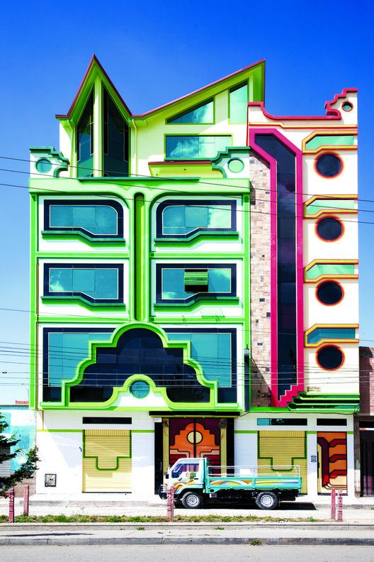 Demonios prehispánicos. Parte II: ¿Neoinca sí, cholets no?, Edificio en Bolivia. Freddy Mamani. Image © Alfredo Zeballos