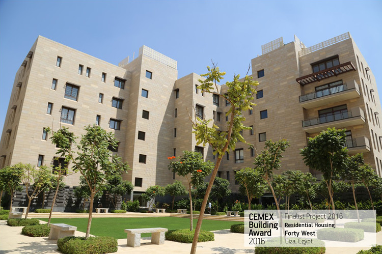 Forty West / Machado and Silvetti Associates. Giza, Egypt. Image  Cortesía de CEMEX Building Award