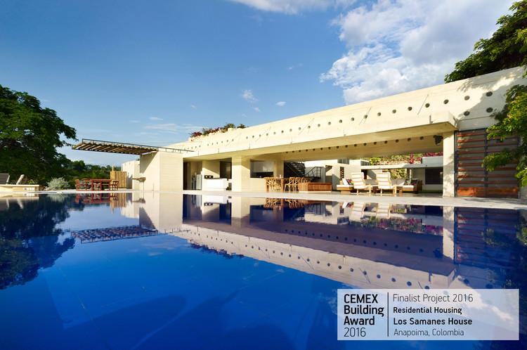 Los Samanes House / Arq. Carlos Campuzano Castelló. Anapoima, Colombia. Image  Cortesía de CEMEX Building Award