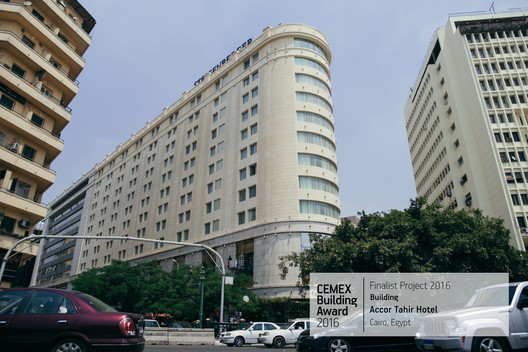 Accor Tahrir Hotel / EHAF Consulting Engineers, Dr.Ezz Eldin Fahmy, Dr. Hussein. Cairo, Egypt. Image  Cortesía de CEMEX Building Award