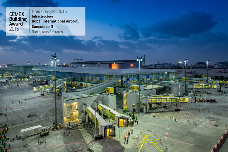 Dubai International Airport, Concourse D / Dar Al Handasah. Dubai, UAE. Image  Cortesía de CEMEX Building Award