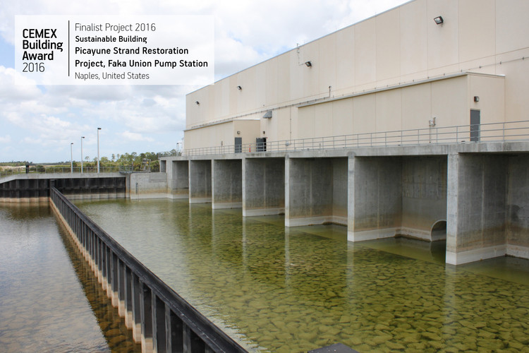 Picayune Strand Restoration Project, Faka Union Pump Station / Parsons Government Services. Naples, USA. Image © CEMEX