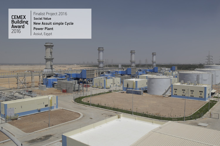 New Assiut simple Cycle Power Plant Assiut, Egypt. Image  Cortesía de CEMEX Building Award