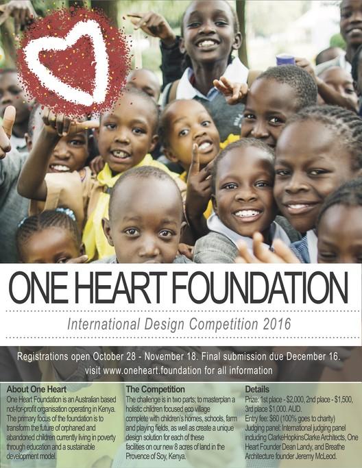 Call for Entries: Kenyan Children's Village Masterplan, Enter the One Heart Foundation International Design Competition 2016