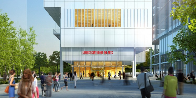 Lenfest Center for the Arts. Image © Renzo Piano Building Workshop (design architect) and Davis Brody Bond (executive architect)