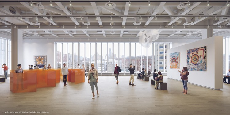 Lenfest Center for the Arts: The Miriam and Ira D. Wallach Art Gallery. Image © Renzo Piano Building Workshop (design architect) and Davis Brody Bond (executive architect), Rendering by Dionysios Tsagkaropoulos