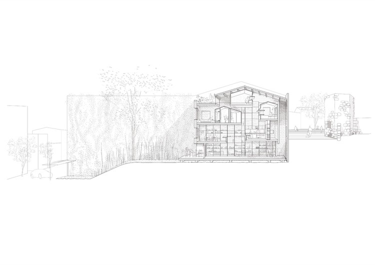House between party walls josep ferrando archdaily for Party wall section