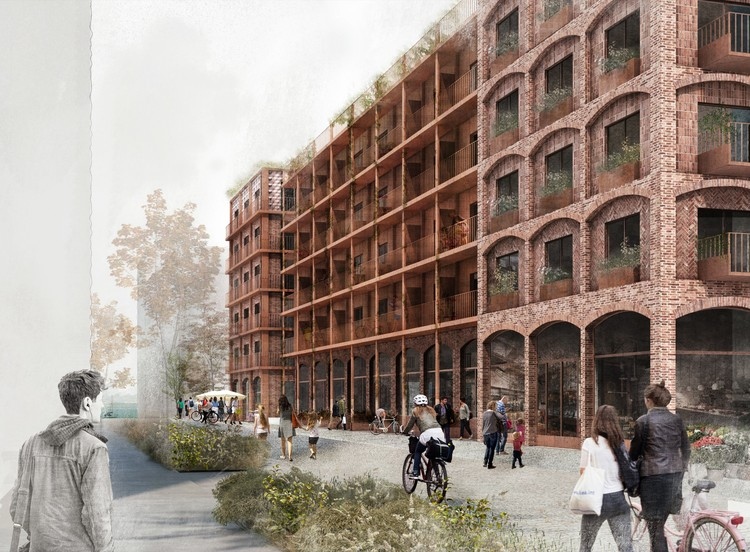 White Arkitekter Wins Competition with Brick Housing Development in Stockholm Royal Seaport, Courtesy of White Arkitekter