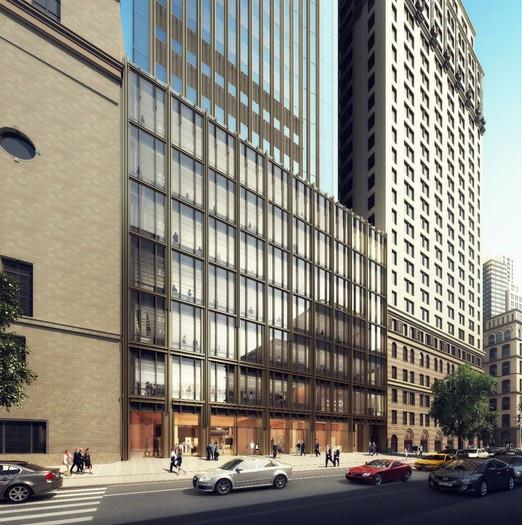 © Pelli Clarke Pelli Architects/Trinity Church. Imagen vía NY YIMBY