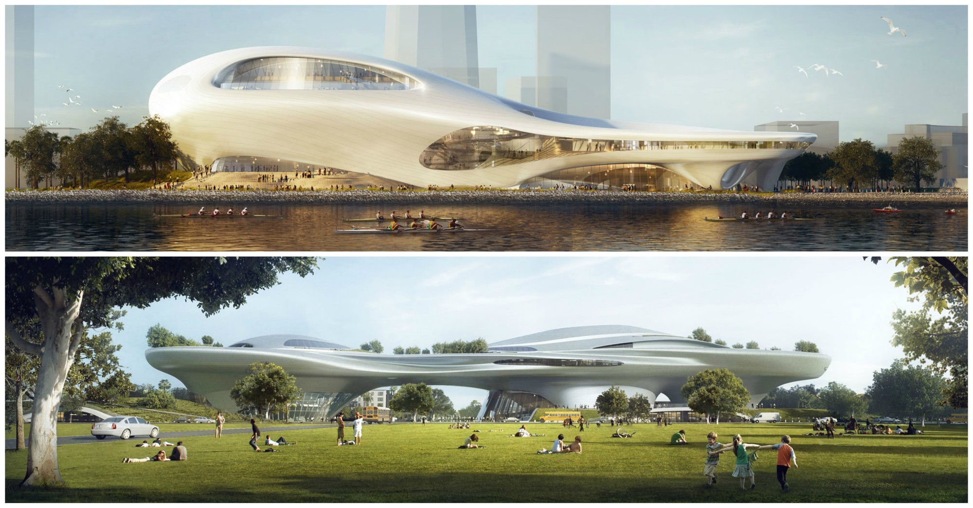 Mad Unveils Dual Lucas Museum Proposals For Los Angeles