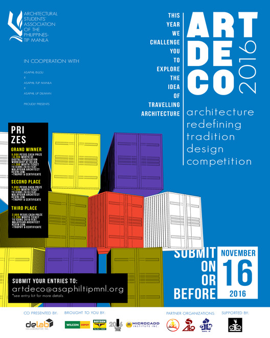 Call for Submissions: ART De Co 2016, Architecture Redefining Tradition Design Competition