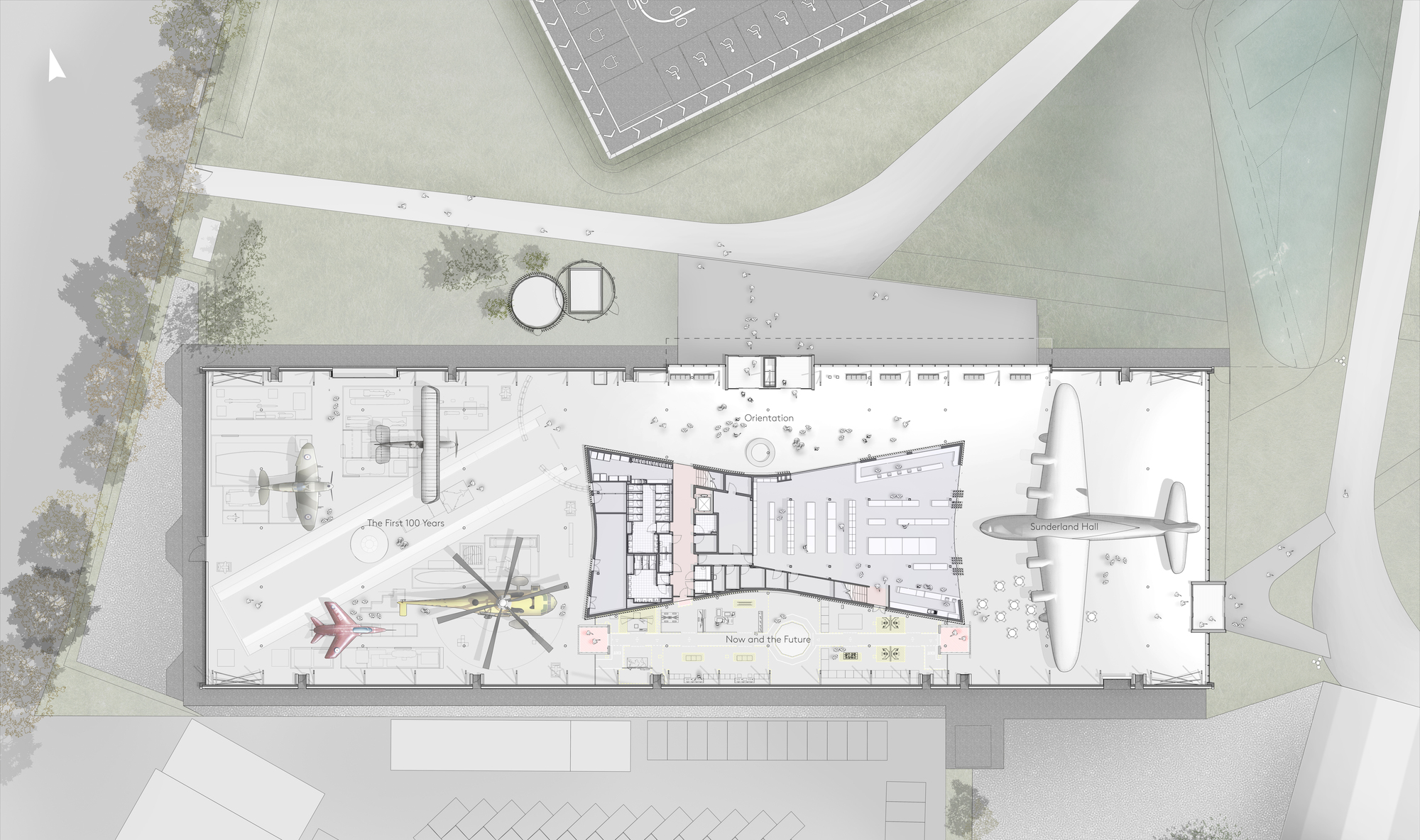 Gallery of nex architecture unveils design for new royal for Architecture hangar