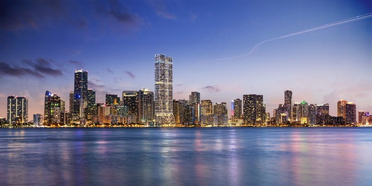 "Rascacielos diseñados por Foster + Partners se convertirán en los más altos de Miami, ""The Towers"" by Foster + Partners in Brickell. Image © DBOX. via Curbed Miami"