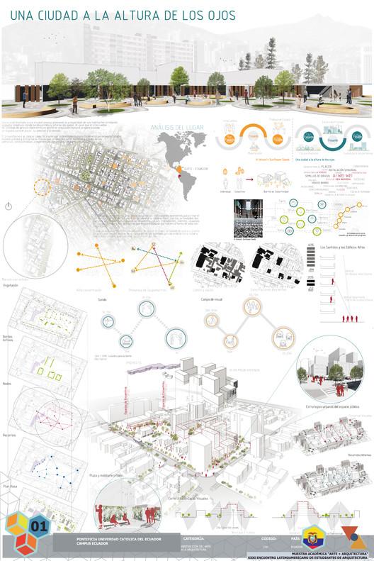 Mención Honrosa / Una ciudad a la altura de los ojos. Image Cortesía de XXXI ELEA