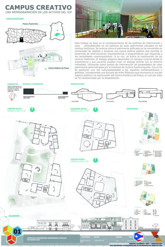 Primer Lugar / Campus Creativo. Image Cortesía de XXXI ELEA