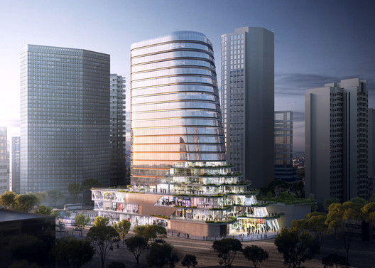 "Aedas' ""Cloud on Terrace"" Will Bring Vertical Public Space to the Heart of Shanghai"