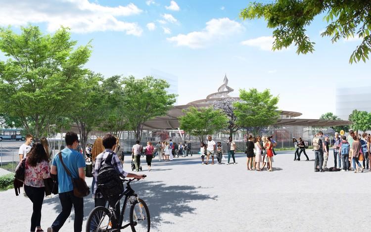 © Jean-Marie Duthilleul - Société du Grand Paris / Gare Noisy - Champs (Línea 15 Sur) por Agence Duthilleul and Arep