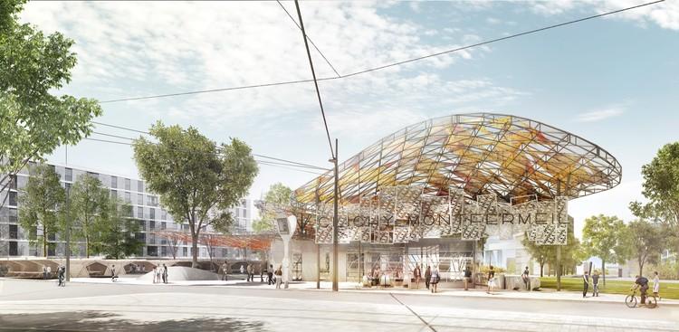 © Agence Miralles Tagliabue EMBT - Société du Grand Paris / Gare Clichy-Montfermeil (Línea 16) por Agence Miralles Tagliabue EMBT con Bordas + Peiro Architecte