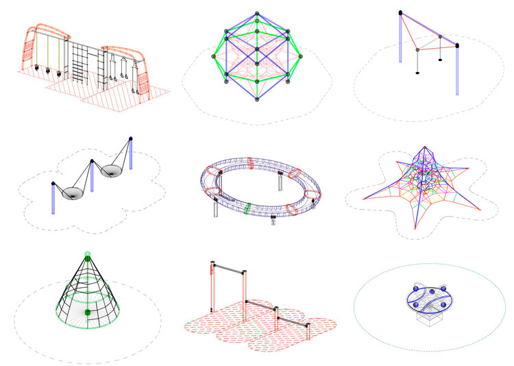 15 CAD Blocks and Files for Playground Equipment | ArchDaily