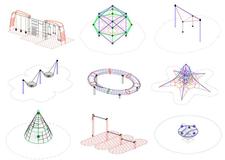 Descarga archivos CAD para tu proyecto: juegos infantiles y equipamiento para espacio público, Cortesía de UrbanPlay