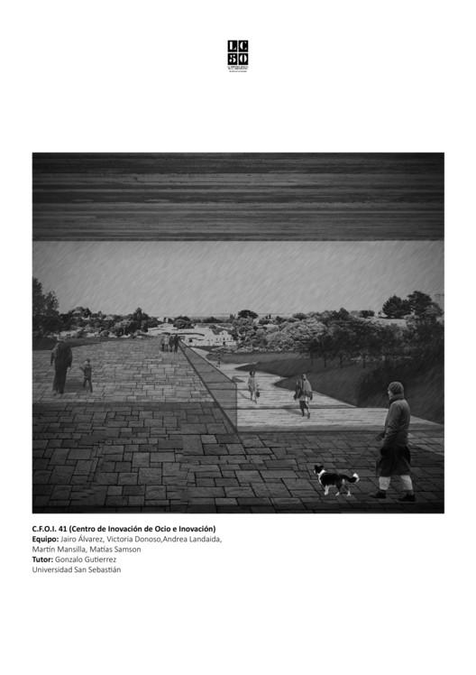 Ladera Egaña / Lámina 01. Image Cortesía de Arquitectura Caliente
