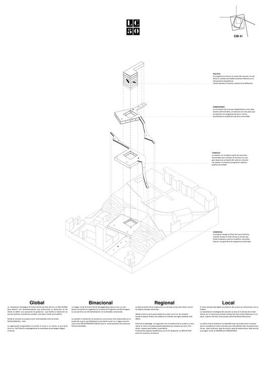 Ladera intendencia / Lámina 02. Image Cortesía de Arquitectura Caliente