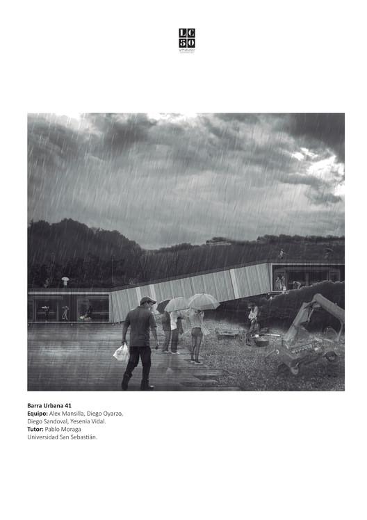 Ladera Manuel Montt / Lámina 01. Image Cortesía de Arquitectura Caliente