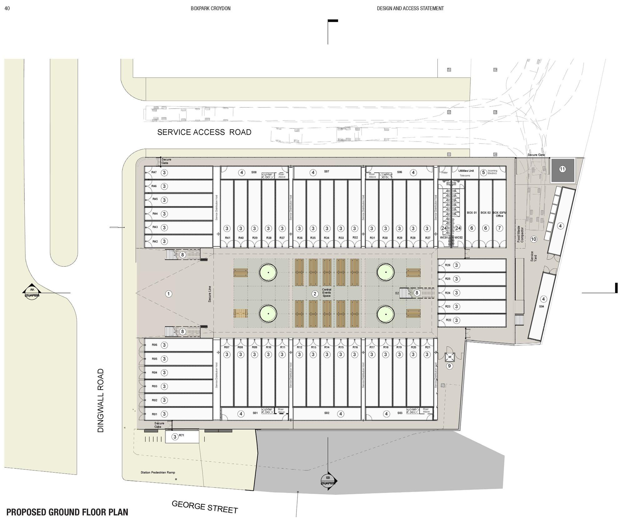 Design A Floor Plan Gallery Of Boxpark Croydon Bdp 12