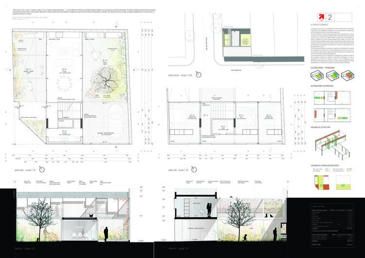Primer Lugar / Lámina 02. Image Cortesía de Organización
