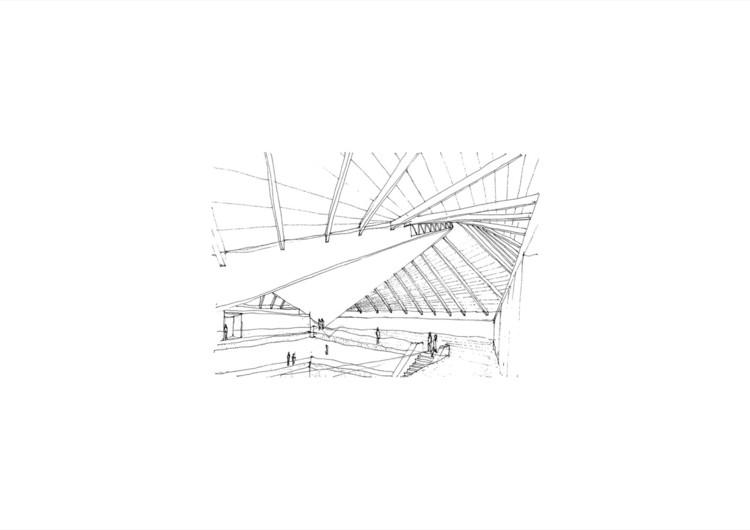 Descubre los interiores del nuevo Museo del Diseño de Londres , Croquis de Pawson para el nuevo Museo del Diseño de Londres