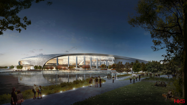 HKS-Designed L.A. Stadium Will Be the Largest in the NFL, Courtesy of HKS