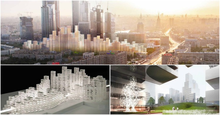 Kengo Kuma Unveils Designs for Residential Superstructures in Moscow , © MKA