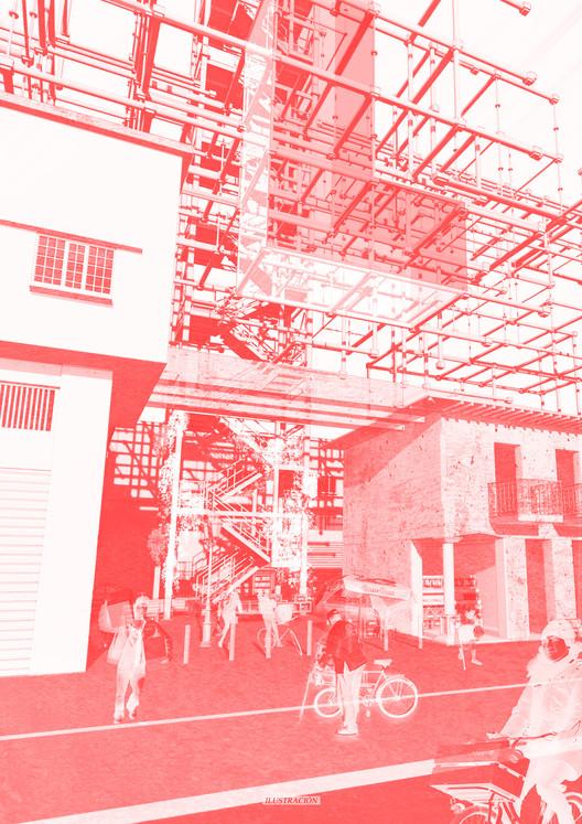 E4 – Universidad Central / Lámina 03. Image Cortesía de Facultad de Arquitectura USS
