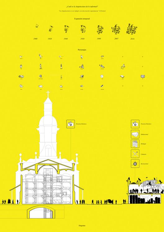 E5 – Universidad de Chile / Lámina 01. Image Cortesía de Facultad de Arquitectura USS