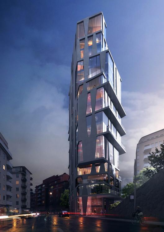 Utopia Arkitekter propõe edifício para iniciar transformação de Estocolmo, Cortesia de Utopia Arkitekter