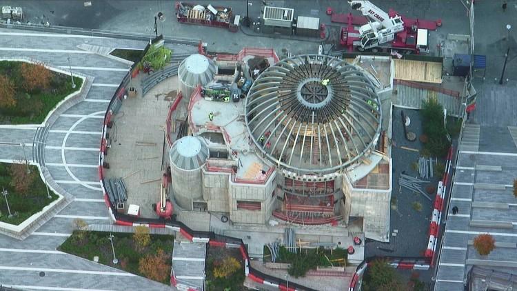 Calatrava's St. Nicholas National Shrine at the World Trade Center Tops Out, via Saint Nicholas National Shrine at the World Trade Center