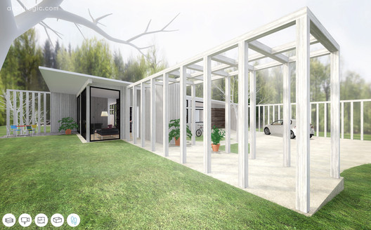 A Virtual Look Into Richard Neutra's Unbuilt Case Study House #13, The Alpha House