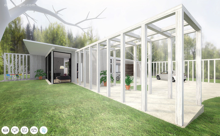 A Virtual Look Into Richard Neutra's Unbuilt Case Study House #13, The Alpha House, Courtesy of Archilogic