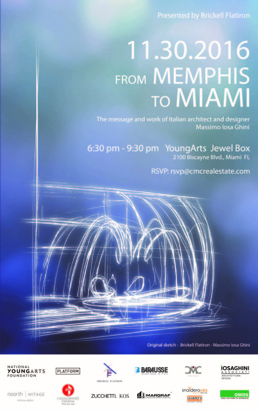 From Memphis to Miami: The Message and Work of Italian Architect and Designer Massimo Iosa Ghini, From Memphis to Miami