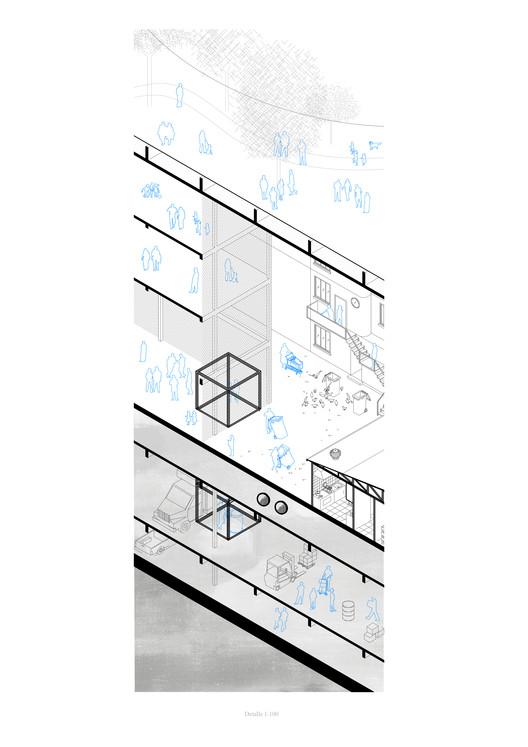 E7 – Universidad Mayor / Lámina 02. Image Cortesía de Facultad de Arquitectura USS