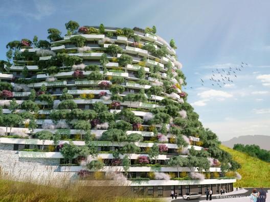 Stefano Boeri Architetti Designs Vertical Forest Hotel in Remote Chinese Valley