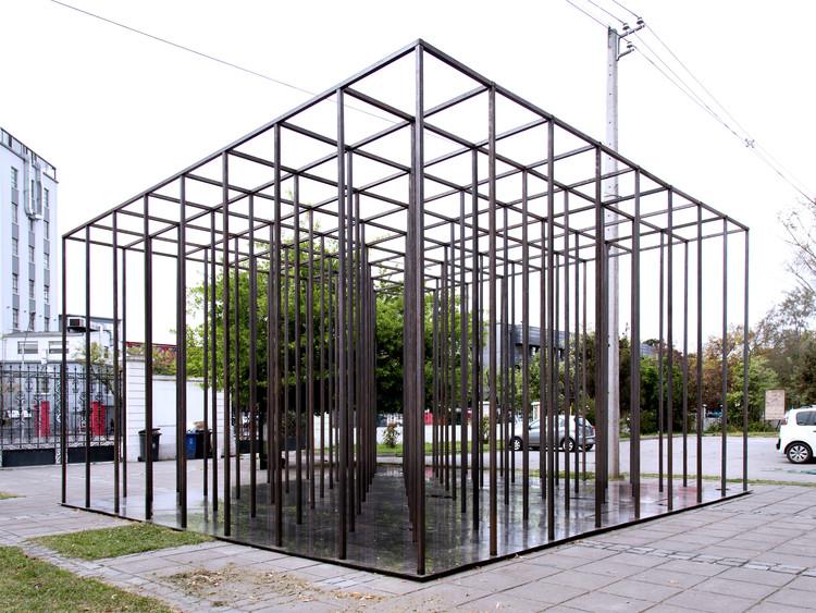 """""""Habitar el vacío"""", una instalación temporal de Josep Ferrando y estudiantes de la UFT en Chile, © María José Canales"""