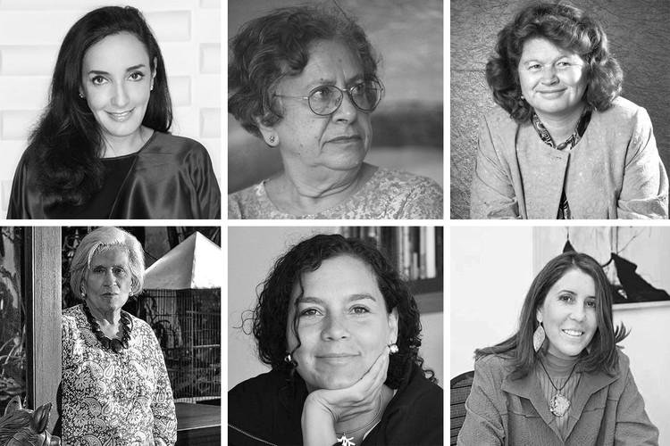 Arquitectas colombianas: 80 años de resistencia, dedicación y logros, Difusión. ImageArriba: Juliana Fernández, Silvia Arango, Ximena Samper. Abajo: Elly Burckhardt, Gloria Serna, Diana Wiesner