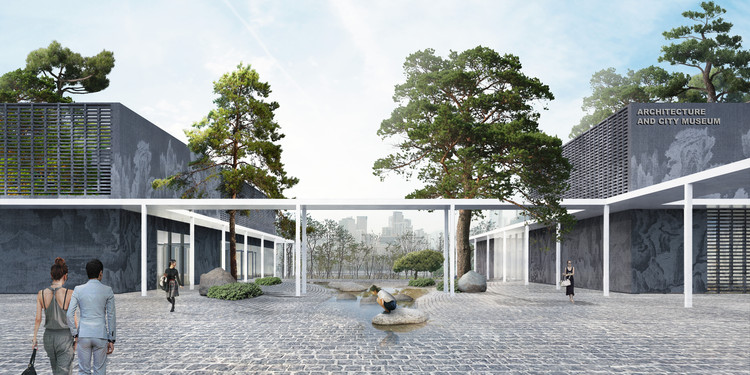 Office OU Designs New National Museum Complex Master Plan in South Korea, Courtesy of  Office OU